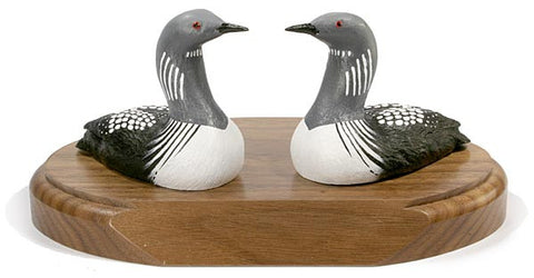 Arctic Loon Ducks on a Base