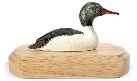 Common Merganser on a Base