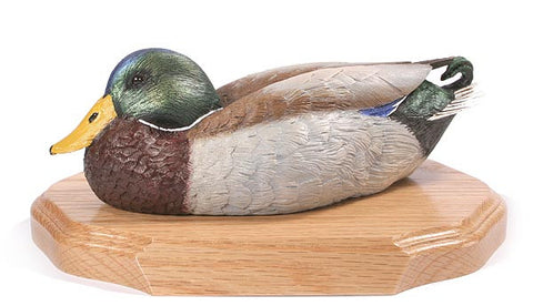 Mallard Duck with Lowered Head on a Base