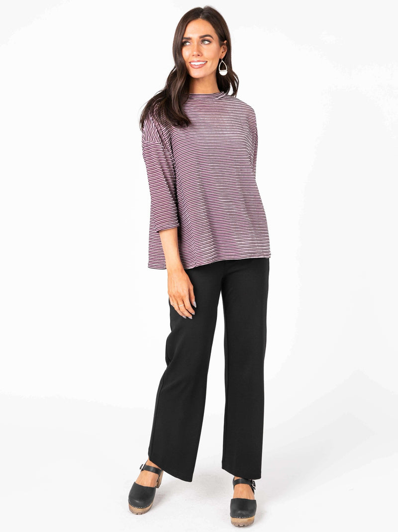 3/4 Sleeve Boxy Pullover