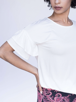 Frill Sleeve Top - Solids