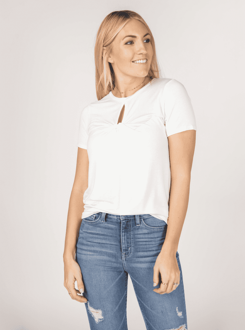 Twist Keyhole Top