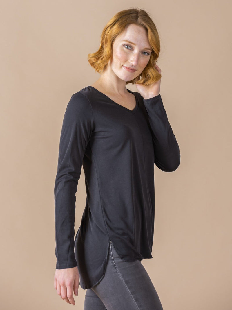 Vincent Curve Top - Ribbed