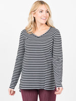 Vincent Hi-Lo Top - Speckled Stripe
