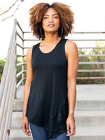 Asymmetrical Tank with Lace