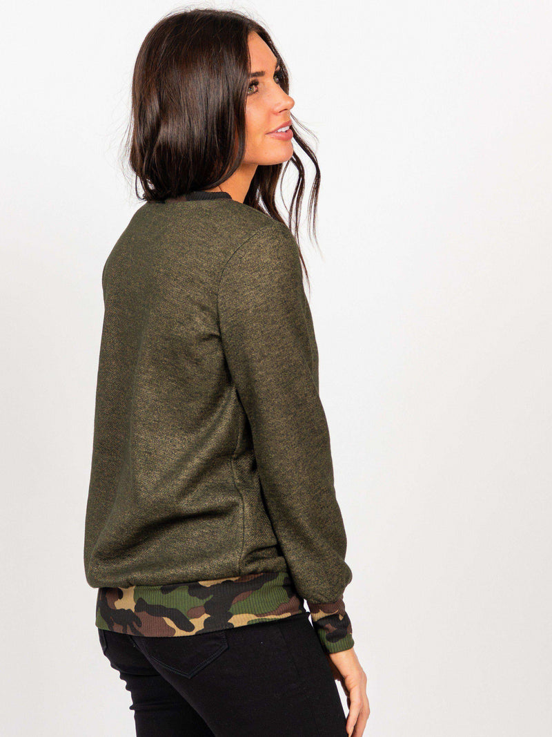Behind the Seams Sweatshirt Camo - Agnes & Dora™