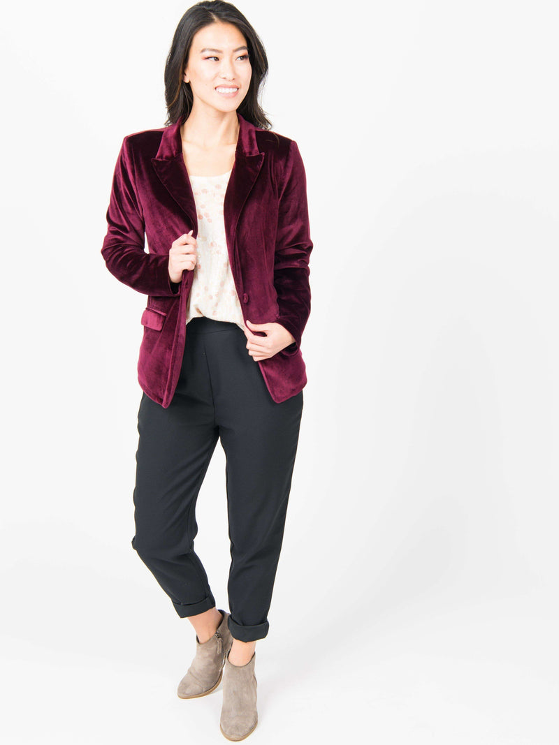Blazer - Stretch Velvet Clothing Agnes & Dora