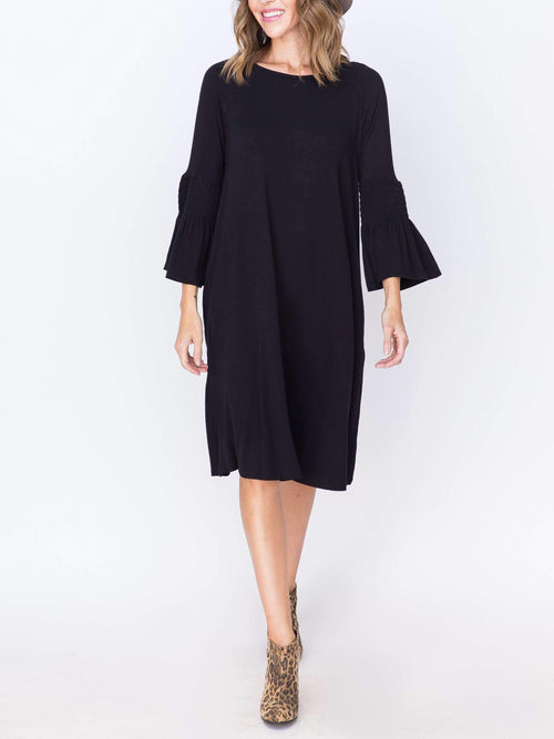 Bloom Dress Black Solid - Agnes & Dora™