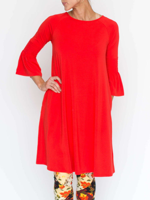 Bloom Dress True Red - Agnes & Dora™