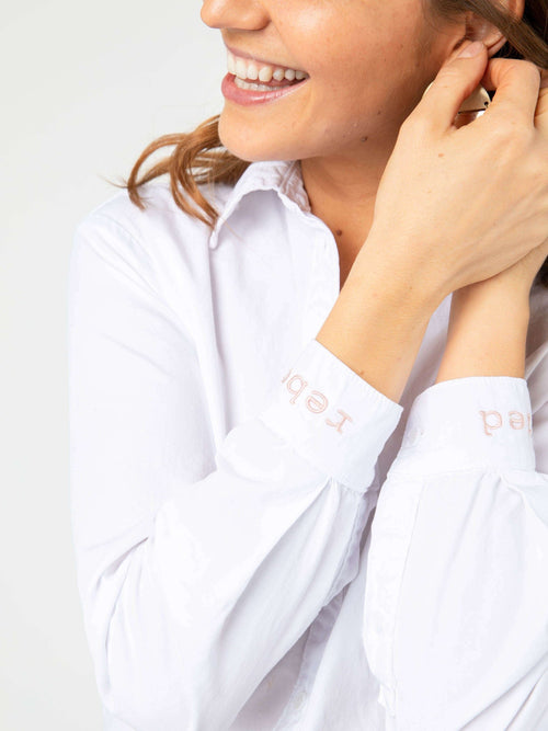 Boyfriend Button Down Long Sleeve White (Rebel Hearted) - Agnes & Dora™
