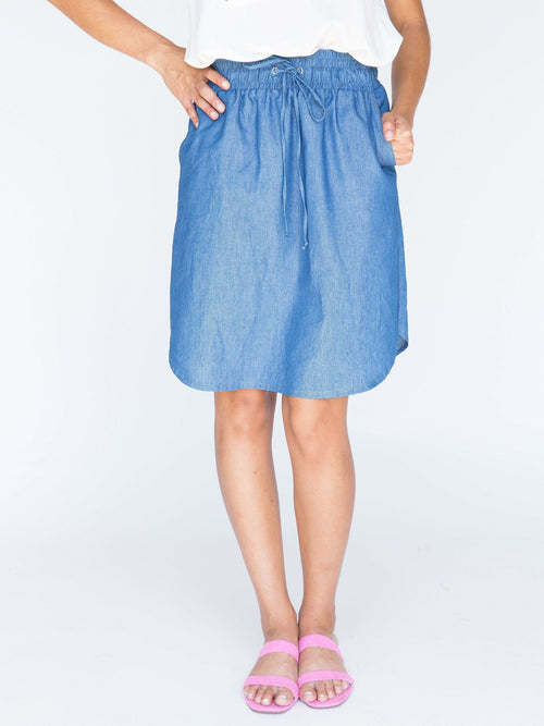 Chambray Skirt Light Blue - Agnes & Dora™