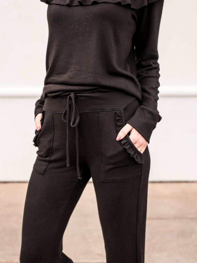 Classic Jogger with Ruffle Pocket