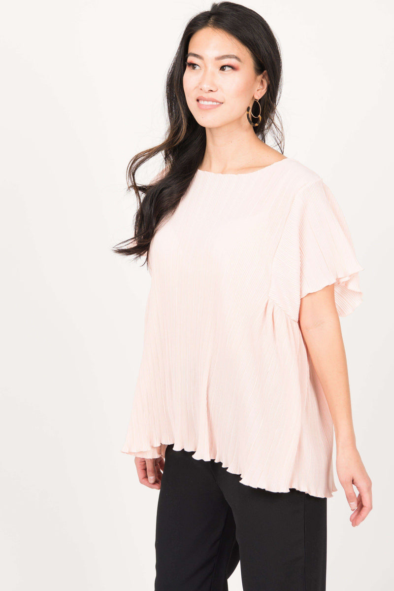 Crystal Pleat Midi Top