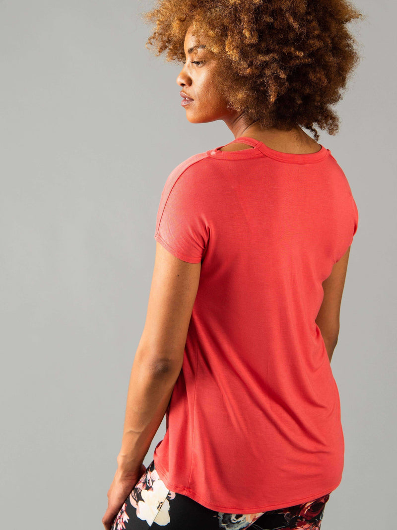 Cut Out Neckline Tee