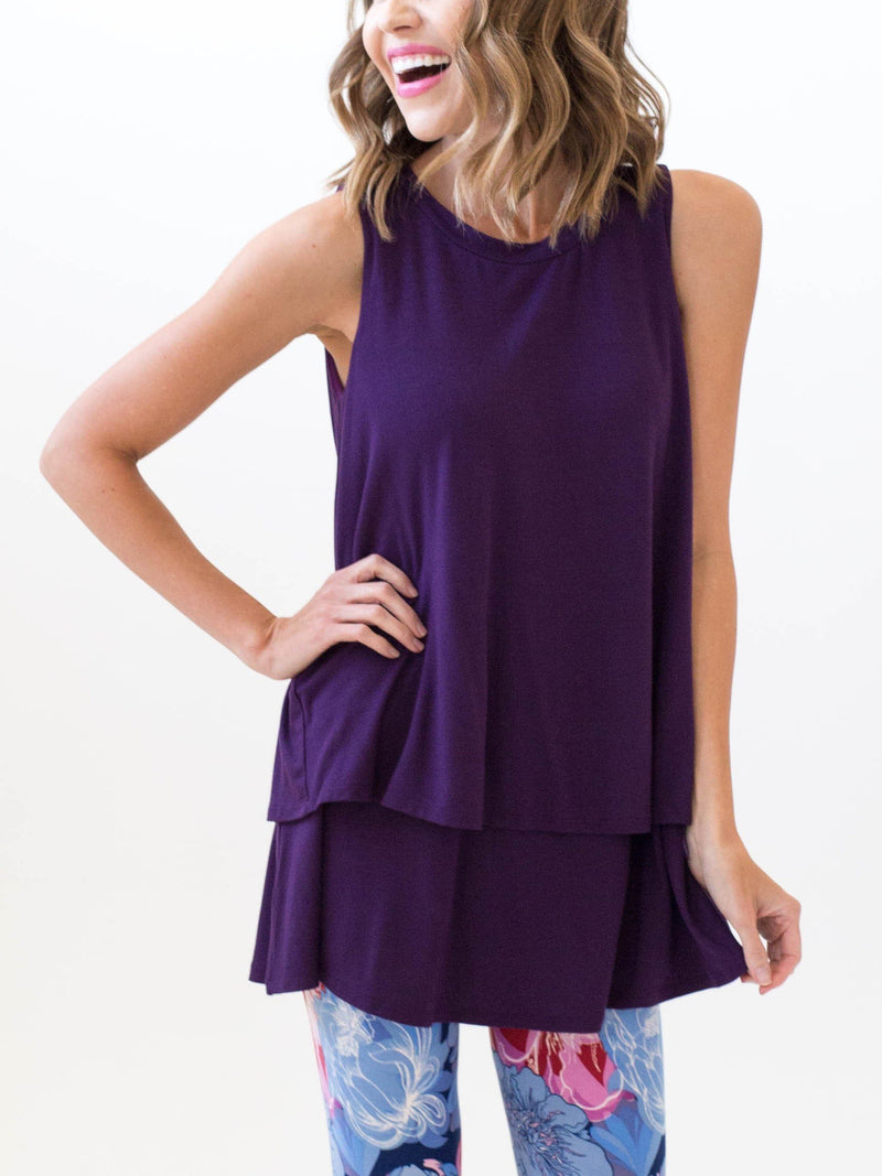 Tiered Tunic Dark Eggplant
