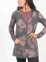 Essential Cardigan - Dark Florals