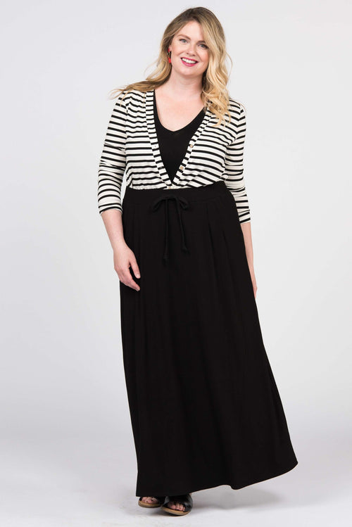 Essential Maxi Skirt Black - Agnes & Dora™