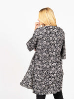 Everyday Kimono Black & Ivory Scroll - Agnes & Dora™