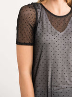Fitted Tee Mesh/Lace