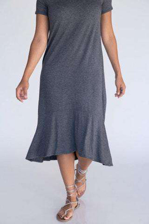 Fitzgerald Dress Dark Charcoal - Agnes & Dora™