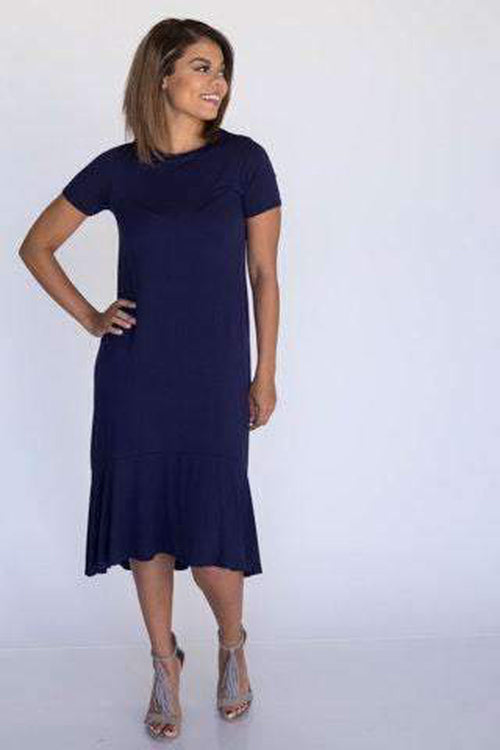 Fitzgerald Dress Vintage Navy - Agnes & Dora™