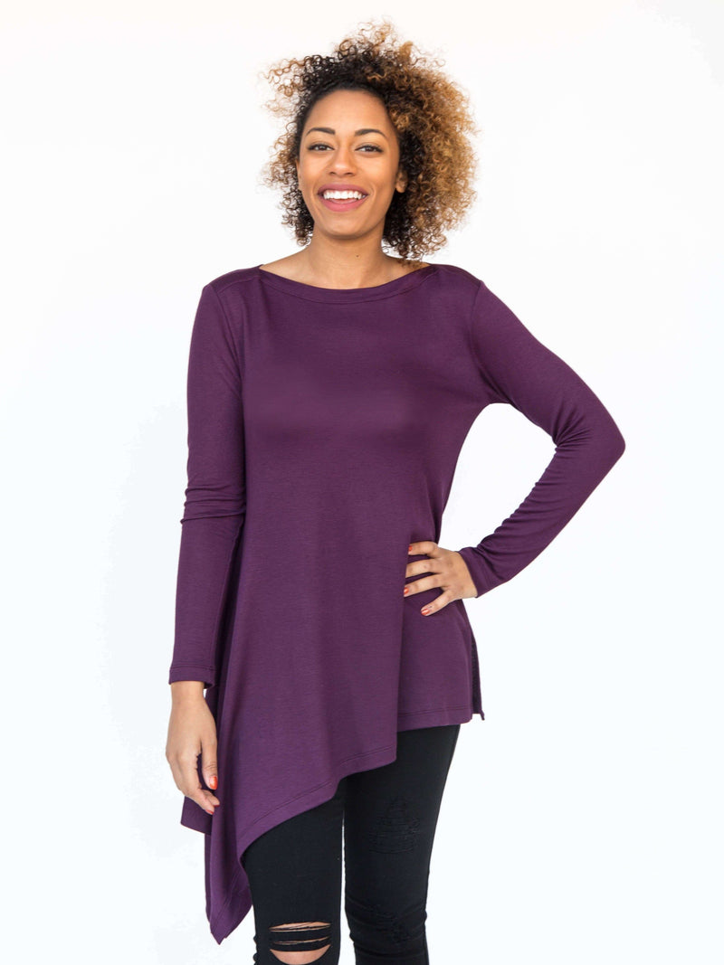French Terry Asymmetrical Tunic