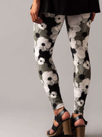 Leggings Black and White Blooms - Agnes & Dora™