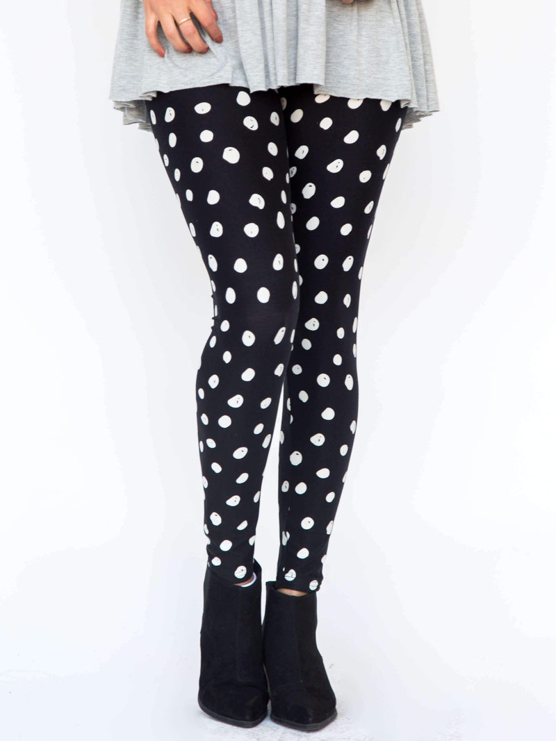 Leggings Black and White Mini Dot - Agnes & Dora™