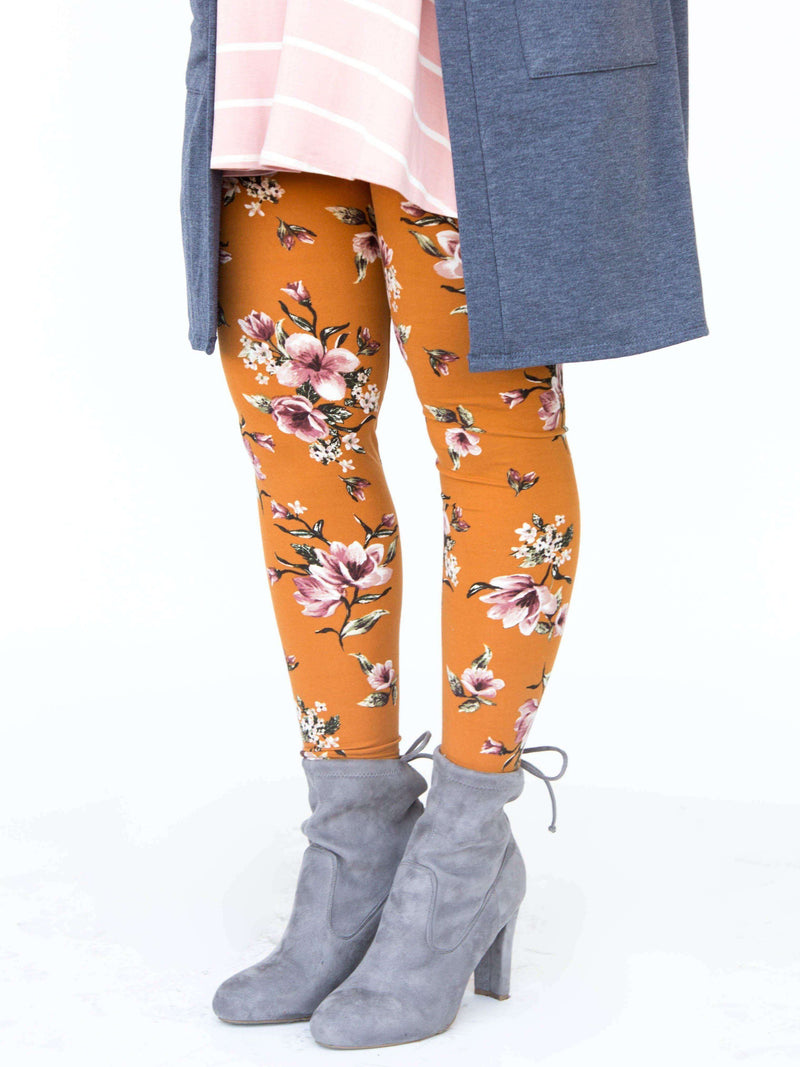 Leggings Golden Blossom - Agnes & Dora™
