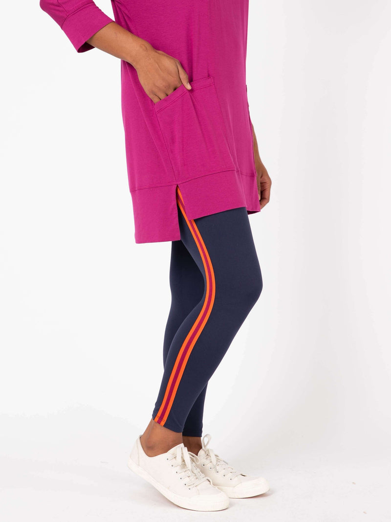 Leggings Racer Stripe Navy - Agnes & Dora™