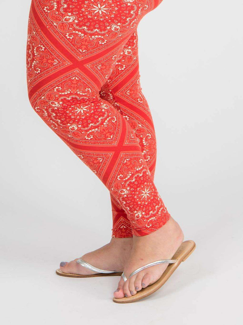 Leggings Red Bandana - Agnes & Dora™