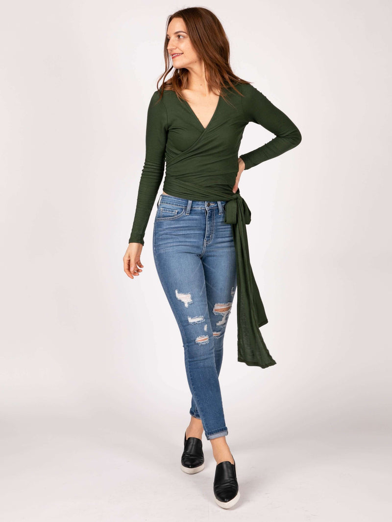 Wrap Top Long Sleeve