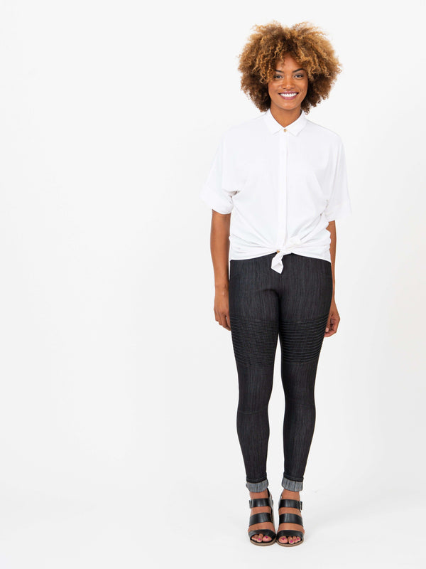 Moto Jegging Black Clothing Agnes & Dora