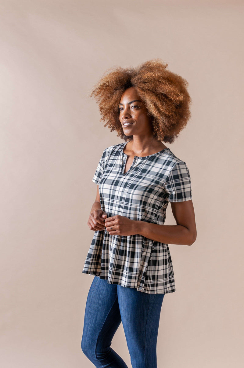 Notch Relaxed Ruffle Tee
