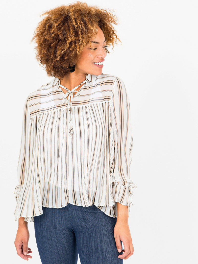 Pleated Bell Sleeve Top - Agnes & Dora™