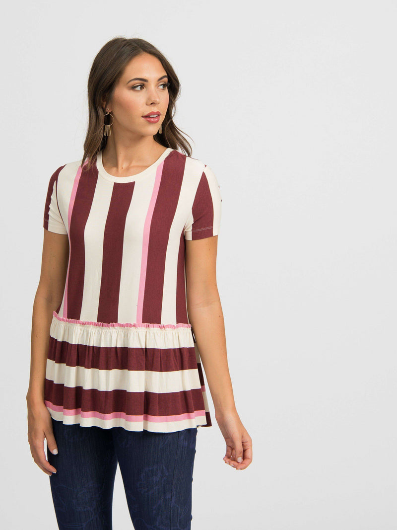 Relaxed Ruffle Tee - Patterns