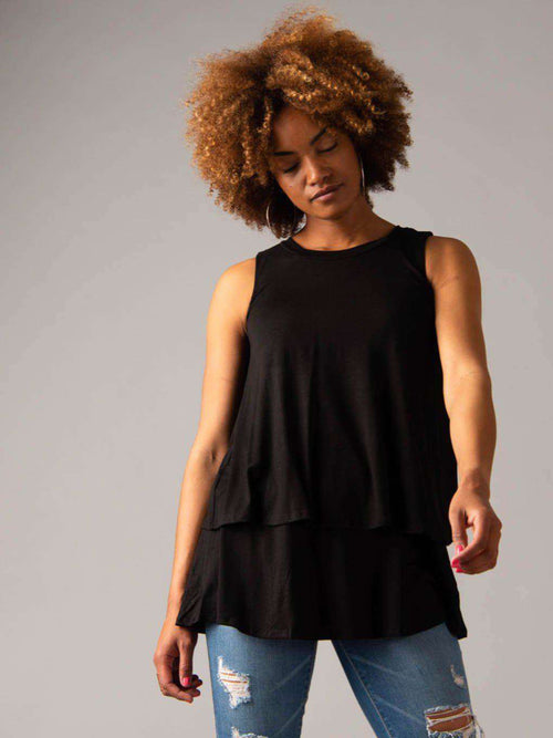 Tiered Tunic Black - Agnes & Dora™