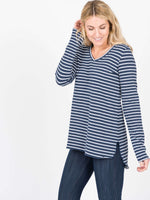 Vincent Hi-Lo Top - Speckled Stripe - Agnes & Dora™