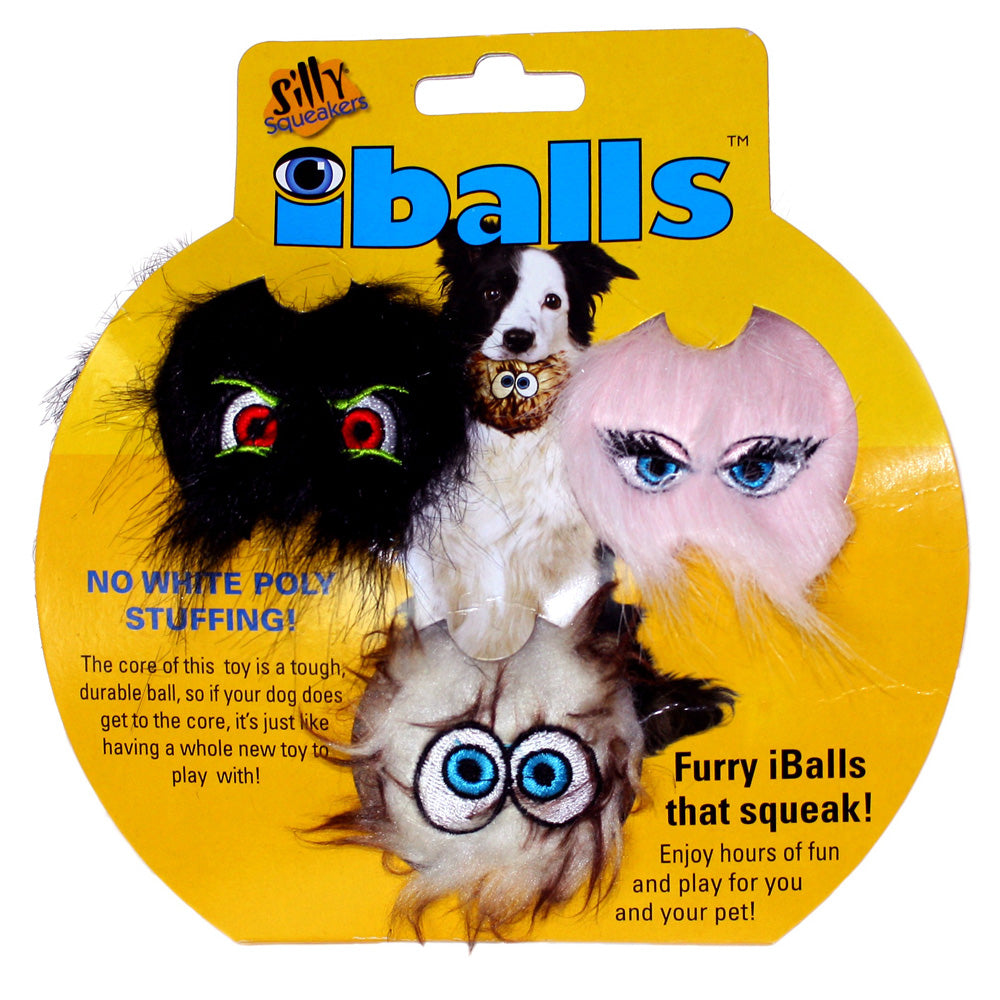 Silly Squeakers iBalls - Small Tri-Pack - JT wagglepurr