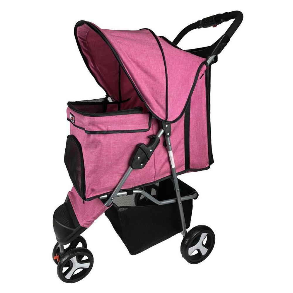 Casual Pet Stroller with a Removable Cup Holder - JT wagglepurr