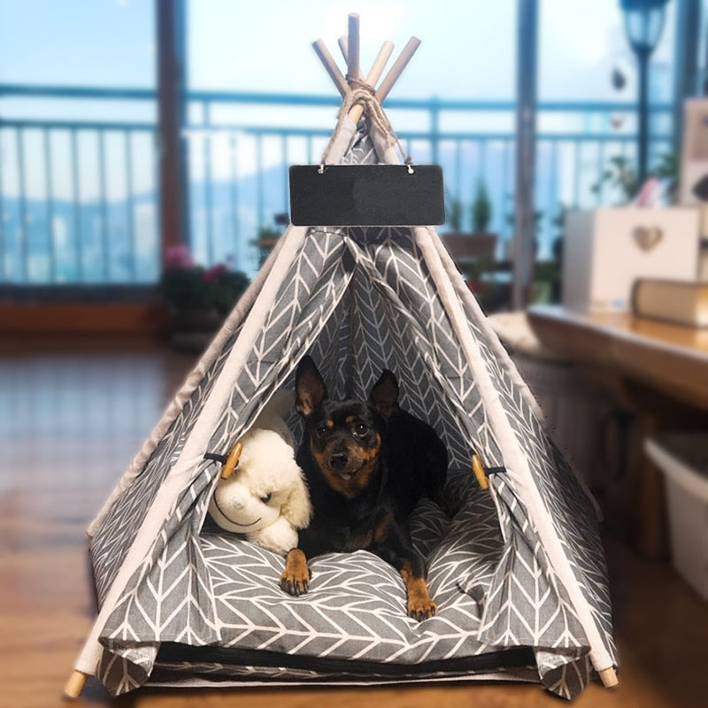 Teepee Tent for Dogs & Cats - Free Worldwide Shipping - JT wagglepurr