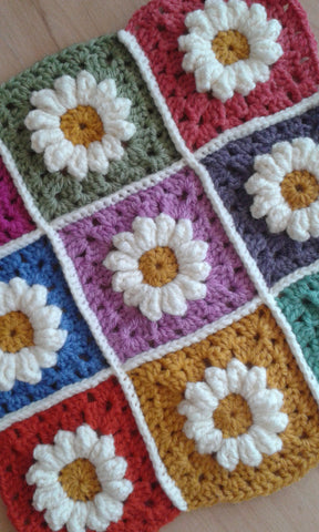 Crochet a Daisy Granny Square. Thursday 22nd August 2019, 6pm - 8:30pm