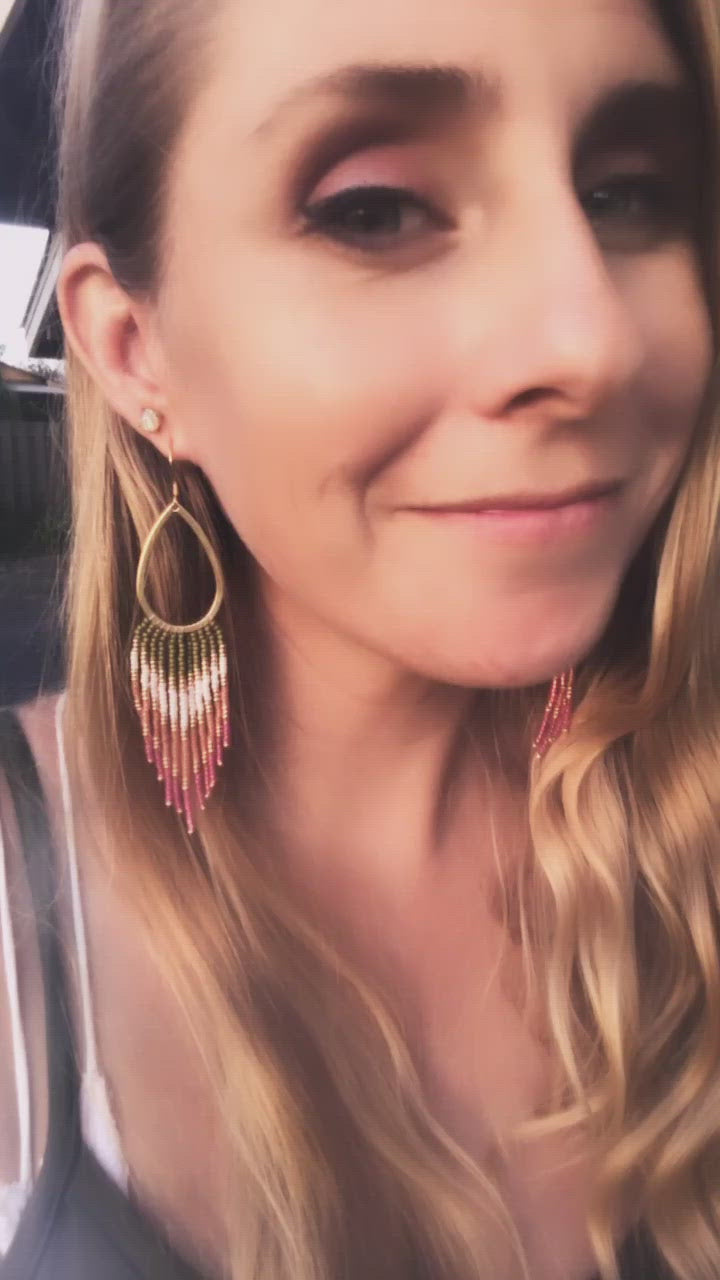 Plumeria Fringe Earrings