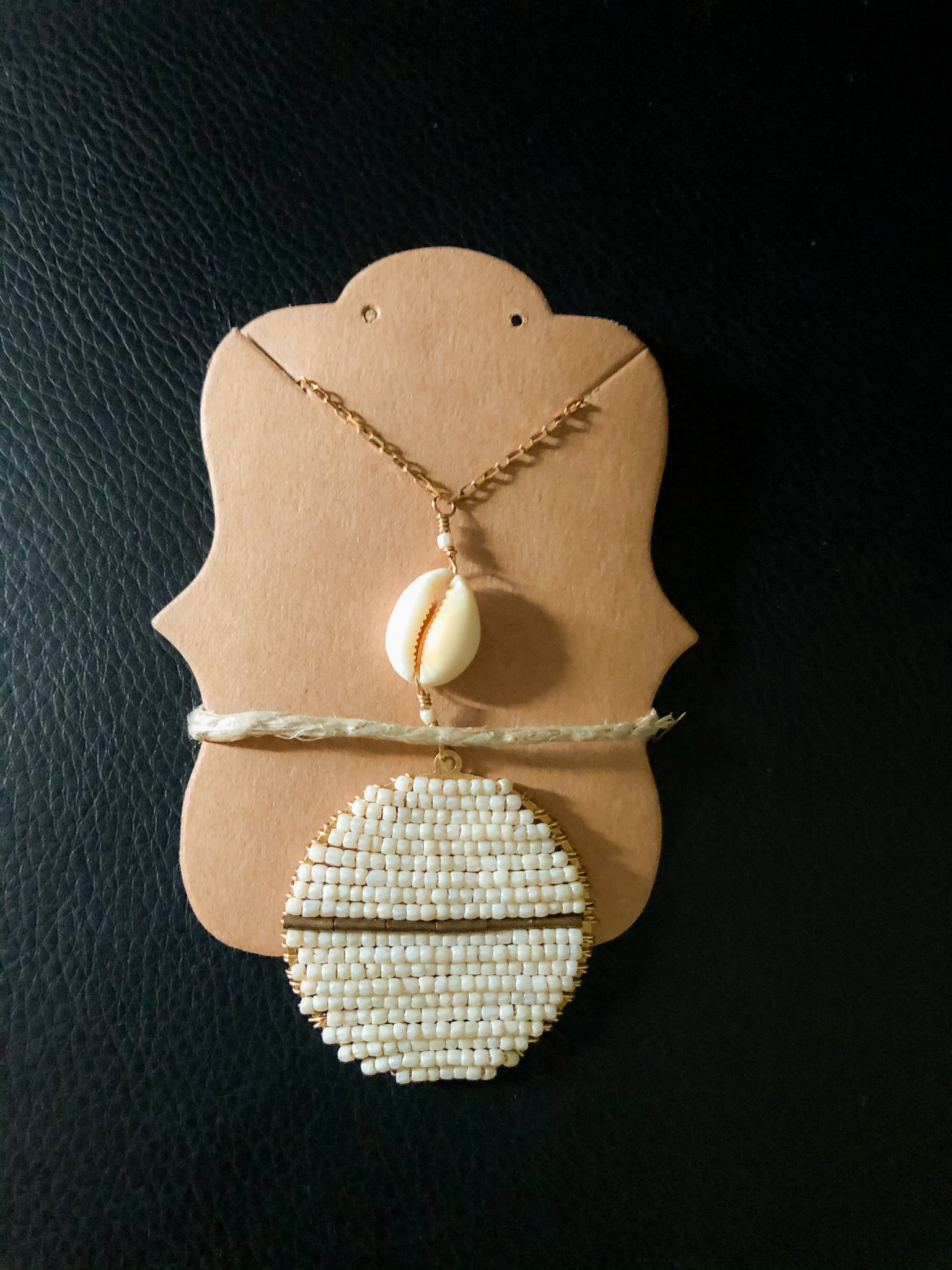 RESERVED- Vanilla Bean Cowrie Necklace