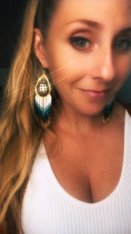 Wailea Pearl and Hebrew Shell Fringe Earrings