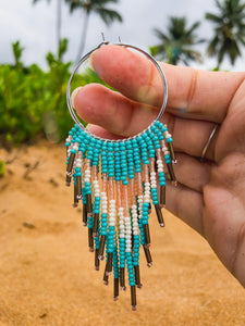 Blue Tide Fringe Earrings - 14k Gold Filled