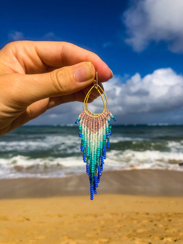Mini Seashore Fringe earrings