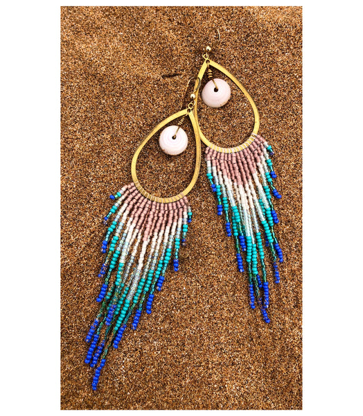 Puka Seashore Fringe Earrings