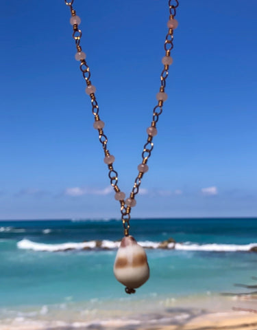 Jade Cone Shell Necklace