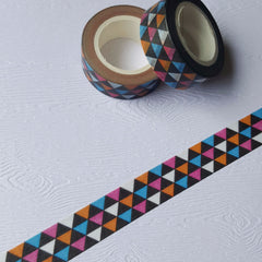 Black & Blue Triangles Washi Tape